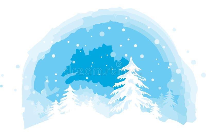 Opinião do inverno ilustração stock