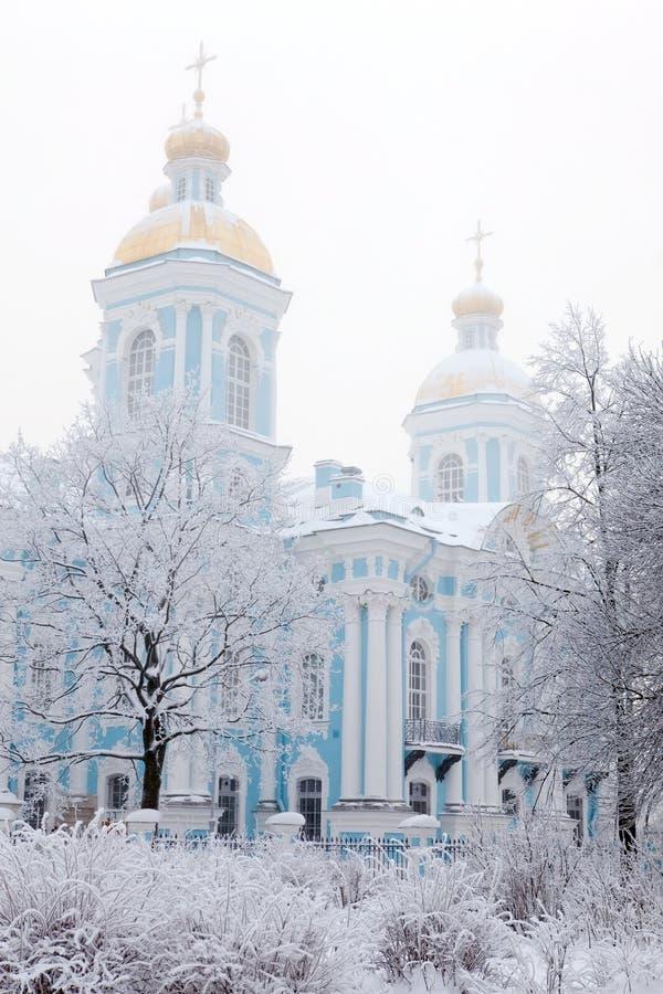 Opinião do inverno de Nicolsky Sobor imagens de stock