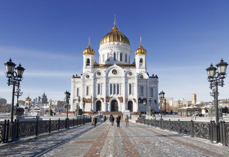 Opinião do inverno em Christ a catedral do salvador fotos de stock