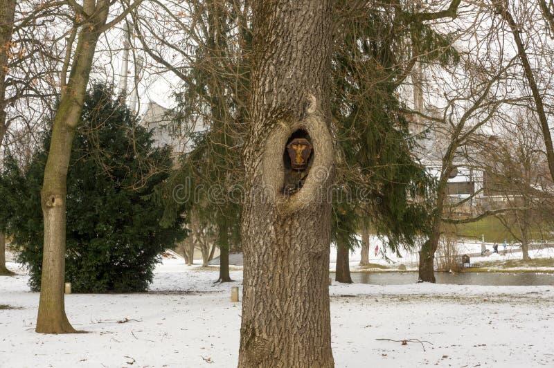Opinião do inverno em Olympiapark Munich Munchen Alemanha foto de stock royalty free