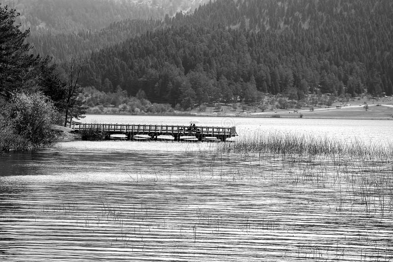 Opinião do lago Abant imagens de stock royalty free