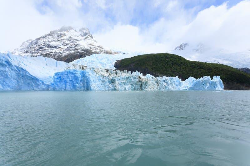 Opinião do lago Argentino, paisagem da geleira de Spegazzini do Patagonia, Argentina imagens de stock royalty free