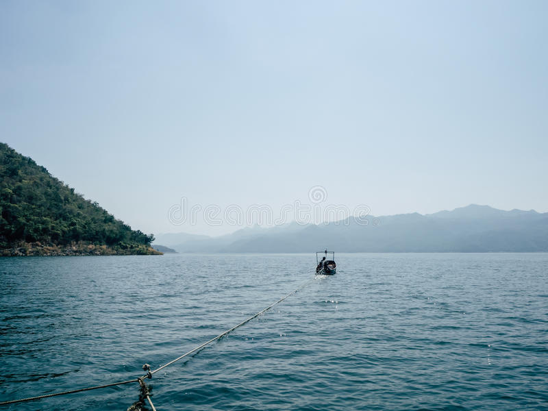Opinião do lago da jangada fotos de stock