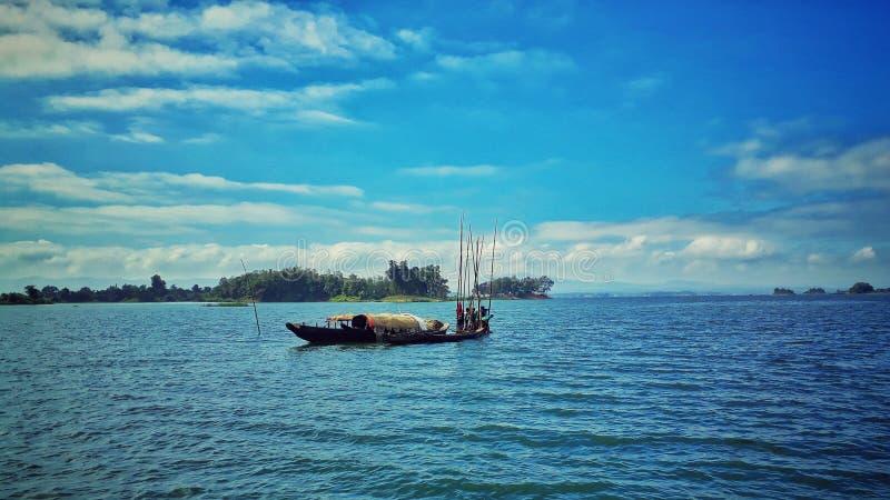 Opinião do lago de Bangladesh fotografia de stock