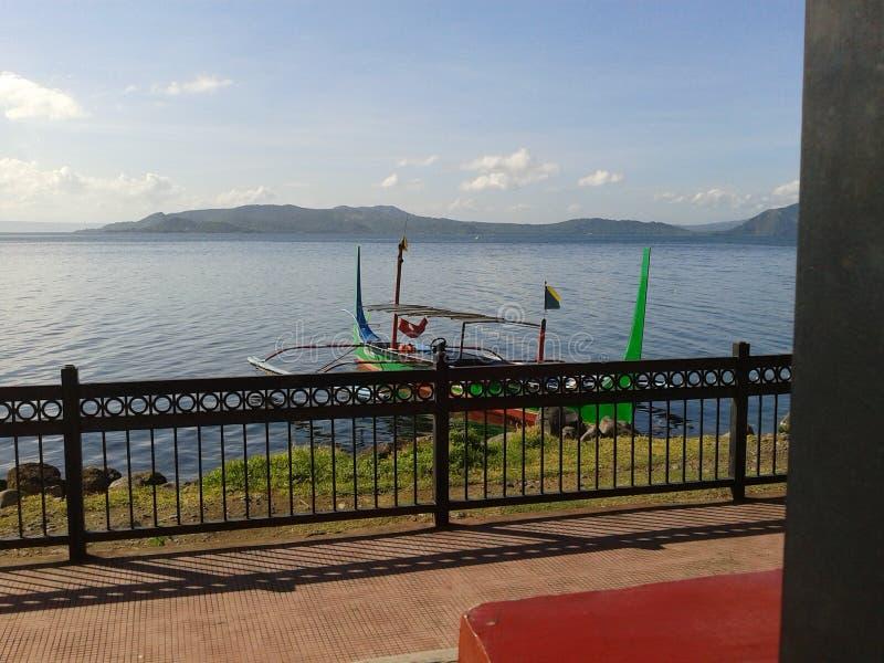 Opinião do lago Taal imagens de stock royalty free
