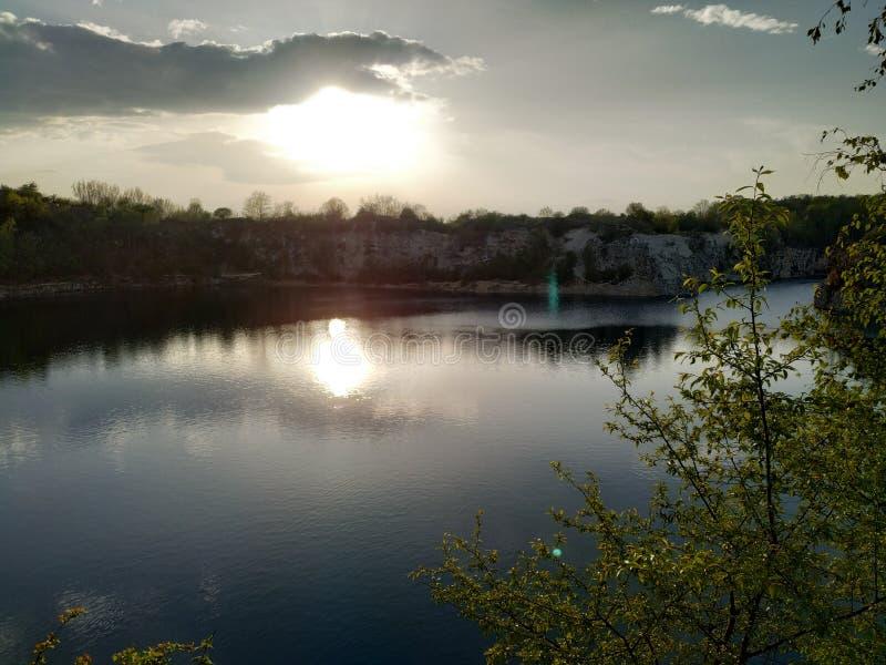 Opinião do lago Zakrzowek imagem de stock