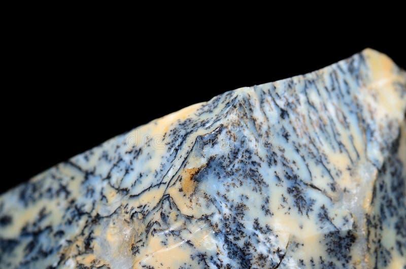Opinião do macro da opala da dendrite imagem de stock