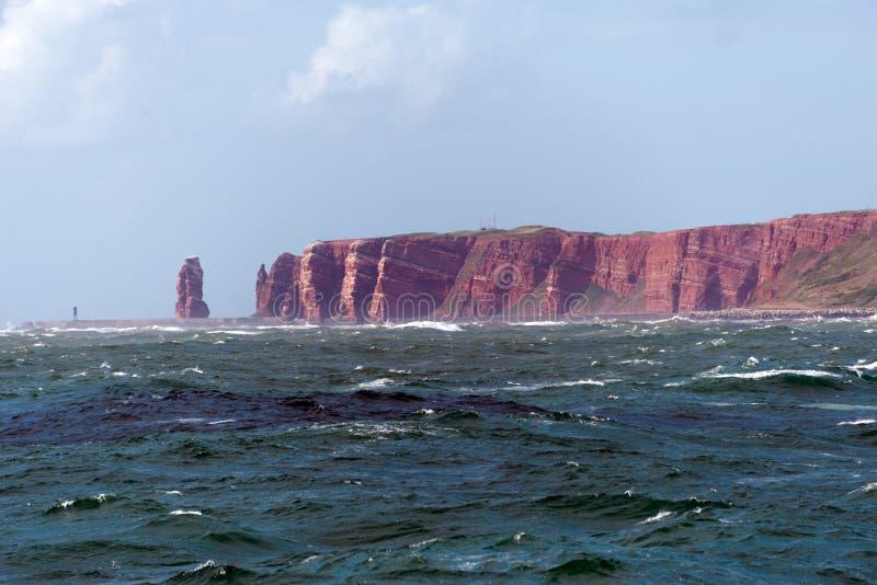 Opinião do mar da ilha do heligoland imagens de stock royalty free