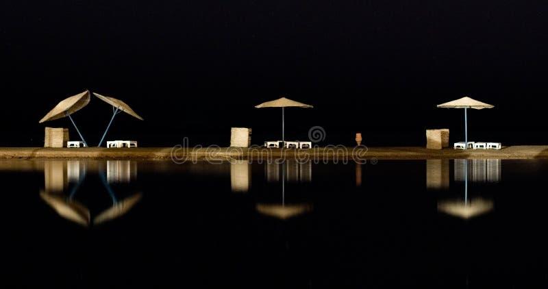 Opinião do mar da noite foto de stock royalty free