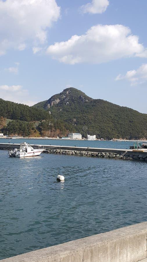 Opinião do mar de Busan imagens de stock