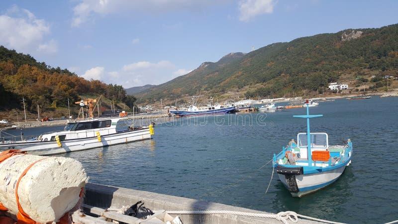 Opinião do mar de Busan fotografia de stock royalty free