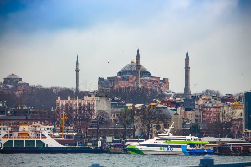 Opinião do mar de Hagia Sophia fotos de stock royalty free