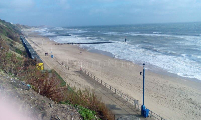 Opinião do mar e da praia imagens de stock royalty free