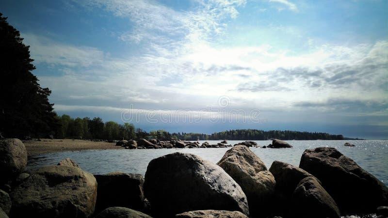 Opinião do mar em Finlandia do sul fotografia de stock royalty free
