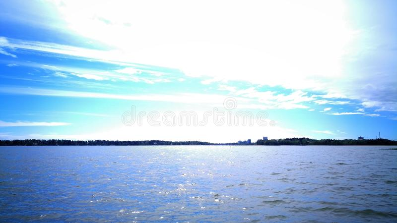 Opinião do mar em Finlandia do sul fotografia de stock