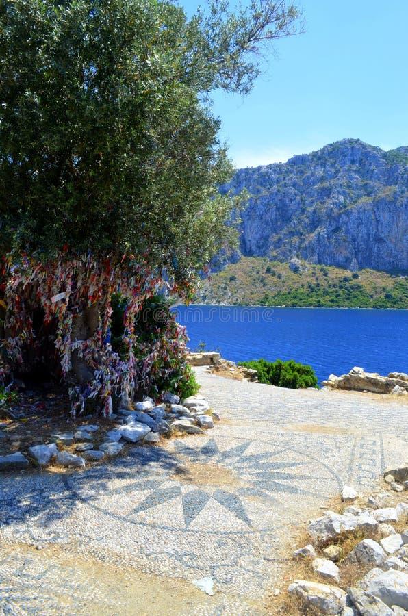 Opinião do mar Mar Egeu Turquia imagem de stock royalty free