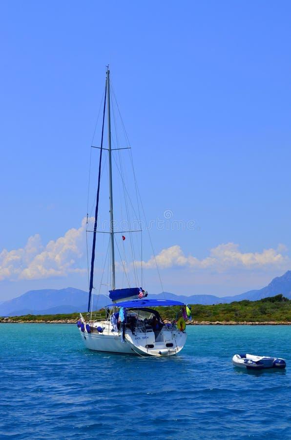 Opinião do mar Marmaris Turquia foto de stock