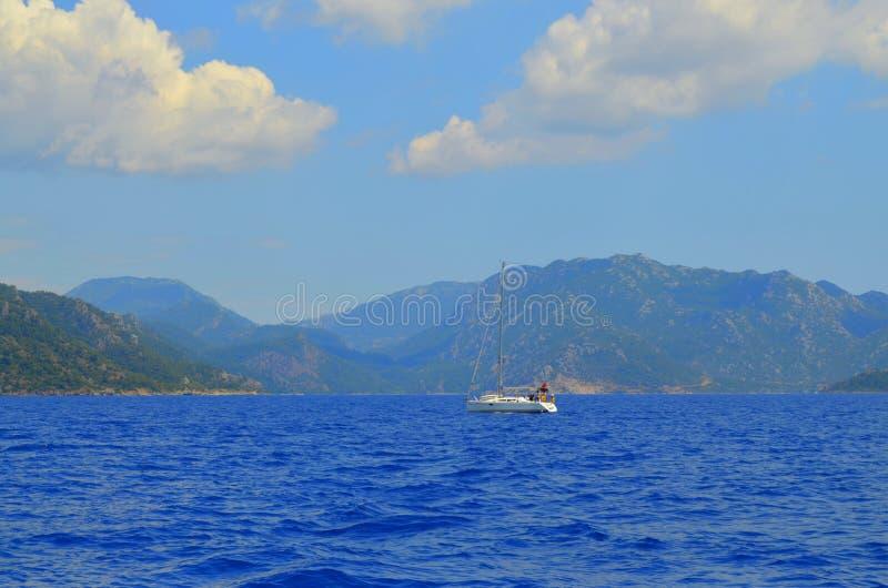 Opinião do mar Marmaris Turquia fotografia de stock royalty free