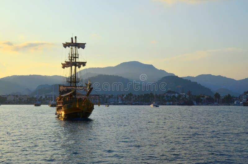 Opinião do mar Marmaris Turquia fotos de stock