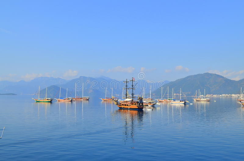 Opinião do mar Marmaris Turquia foto de stock royalty free