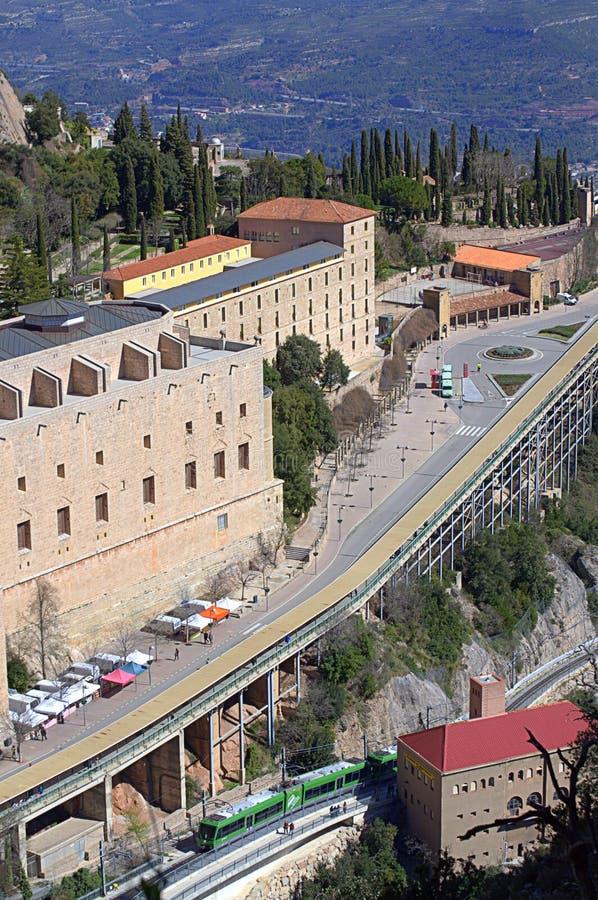 Opinião do monastério de Monserrate, Espanha fotos de stock