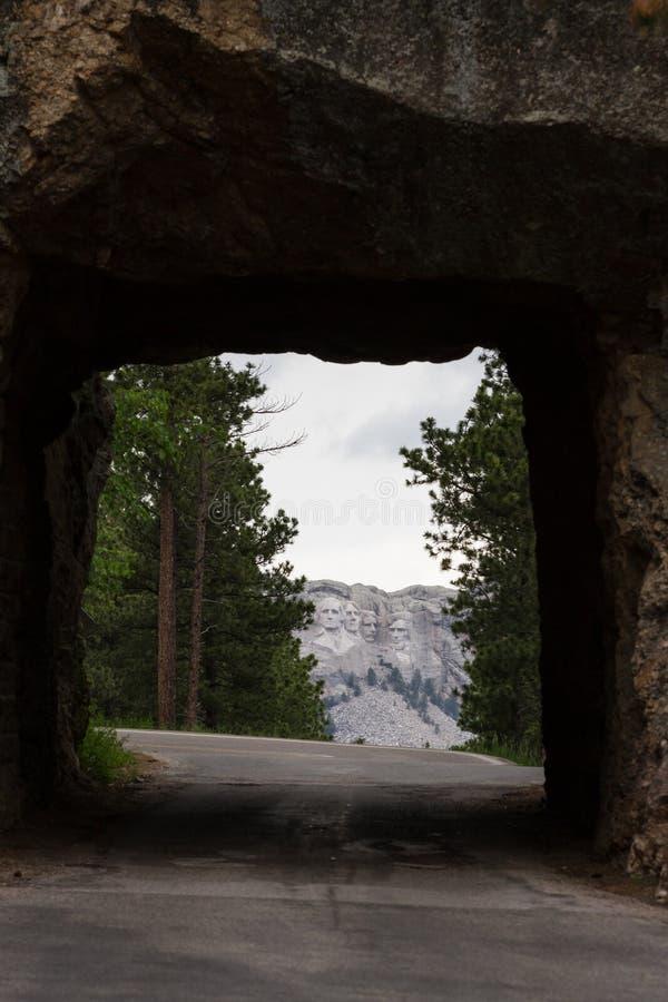 Opinião do Monte Rushmore imagens de stock