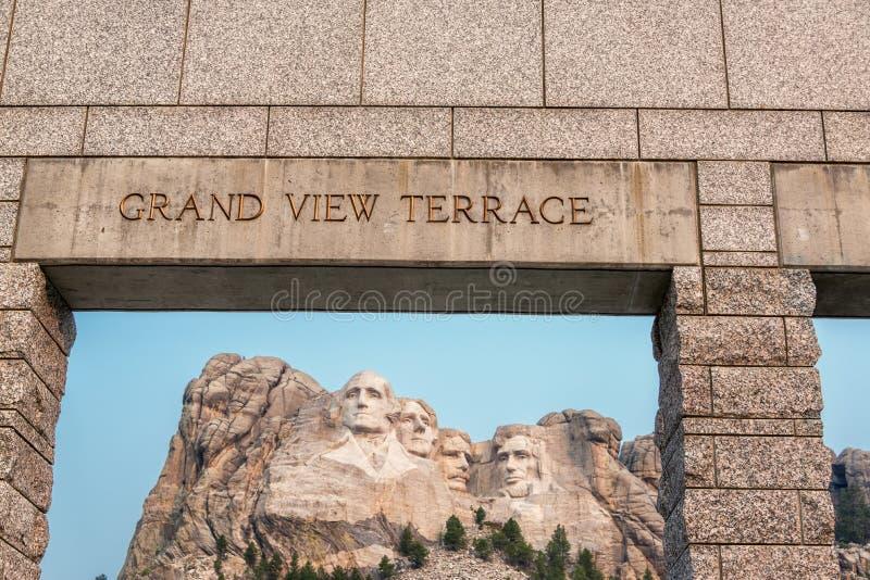 Opinião do Monte Rushmore fotos de stock royalty free