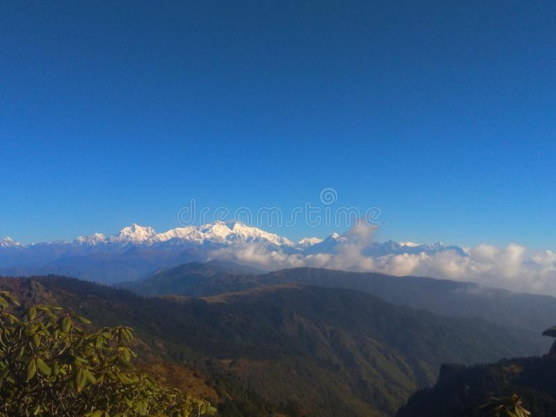 Opinião do nascer do sol em Ilam Nepal foto de stock royalty free