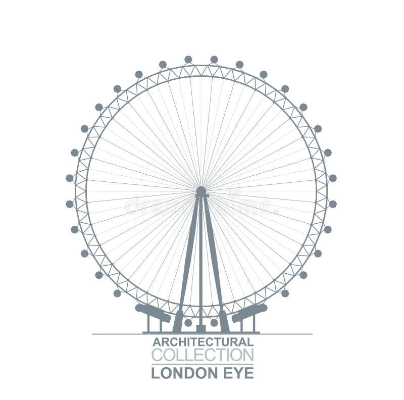 Opinião do olho de Londres ilustração stock