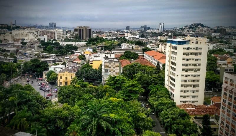 Opinião do ouro do preto de Rio de janeiro imagem de stock
