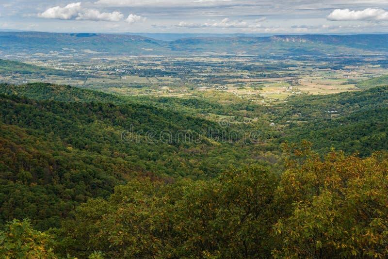 Opinião do outono de Shenandoah Valley imagem de stock royalty free