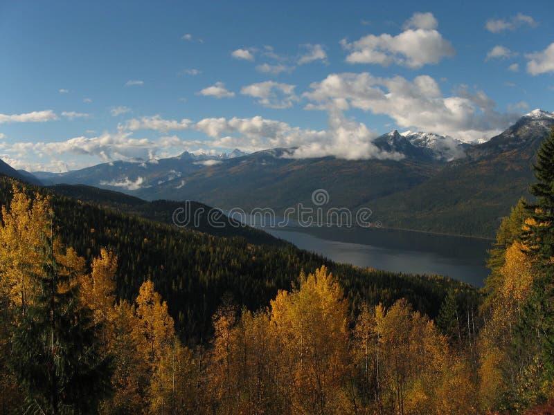Opinião do outono de Slocan Valley fotos de stock royalty free