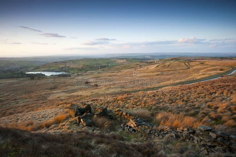 Opinião do outono dos vales de Yorkshire fotos de stock royalty free