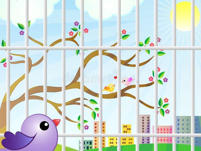 A opinião do pássaro da gaiola