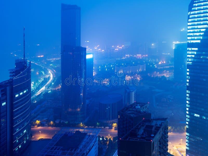 Opinião do pássaro em Nanchang China. imagens de stock