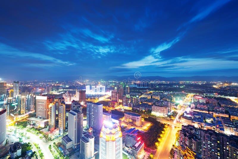 Opinião do pássaro em Nanchang China. imagem de stock
