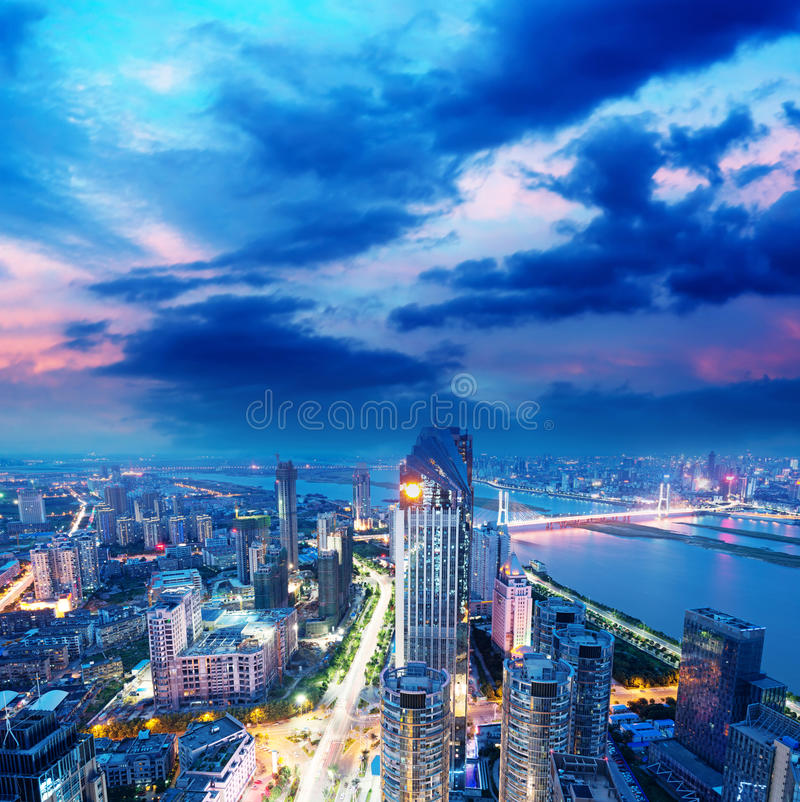Opinião do pássaro em Nanchang China. imagens de stock royalty free