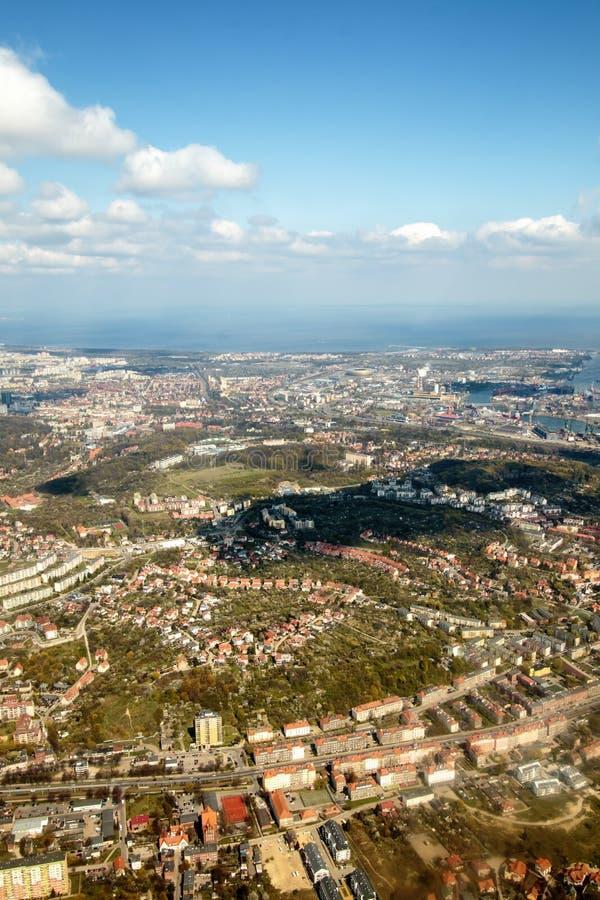 Opinião do panorama da cidade de Gdansk imagem de stock