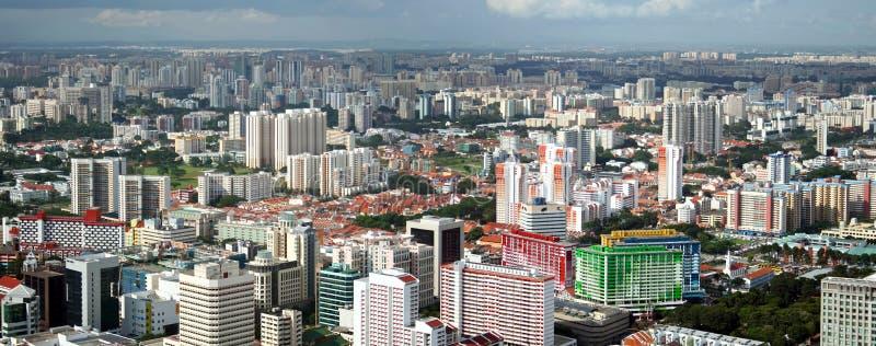 Opinião do panorama da cidade de Singapore fotografia de stock