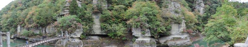 Opinião do panorama de À-nenhum-Hetsuri dentro Japão foto de stock