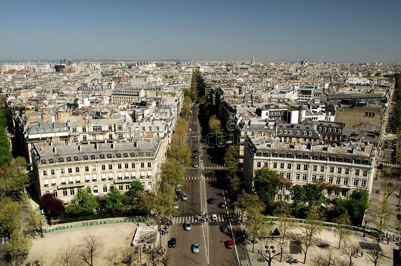 Opinião do panorama de Paris fotografia de stock royalty free