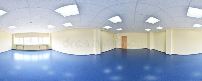 opinião do panorama 360 no interior vazio moderno do apartamento, panorama sem emenda dos graus fotografia de stock royalty free