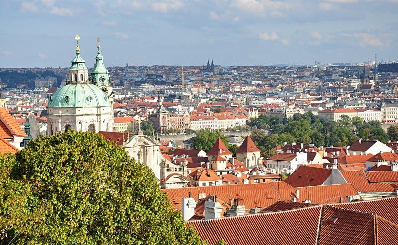 Opinião do panorama, Praga, República Checa, Europa imagem de stock