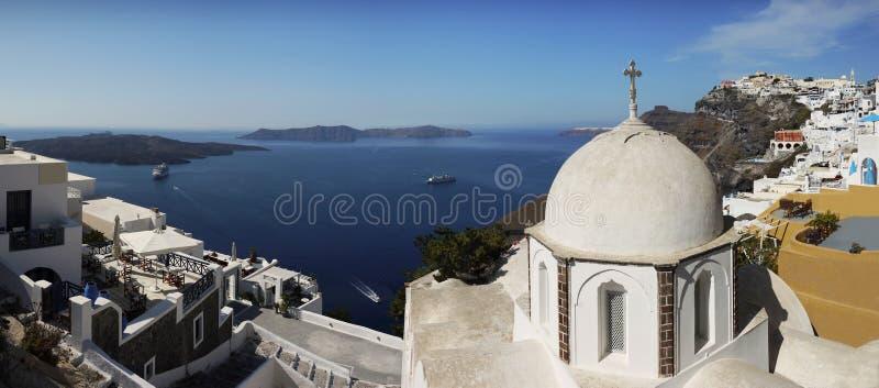 Opinião do panorama, Santorini imagens de stock