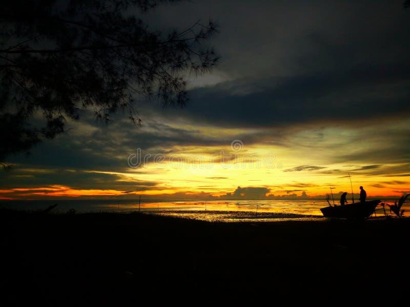 Opinião do por do sol imagens de stock