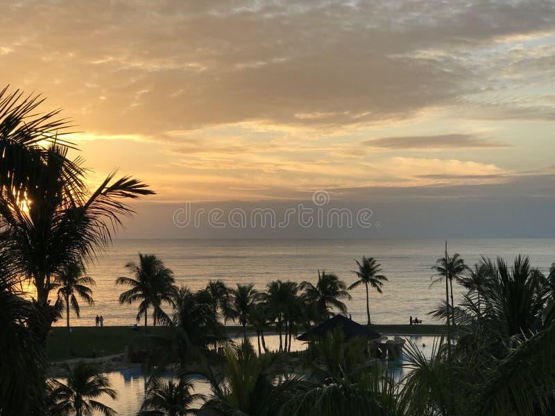 Opinião do por do sol fotografia de stock royalty free