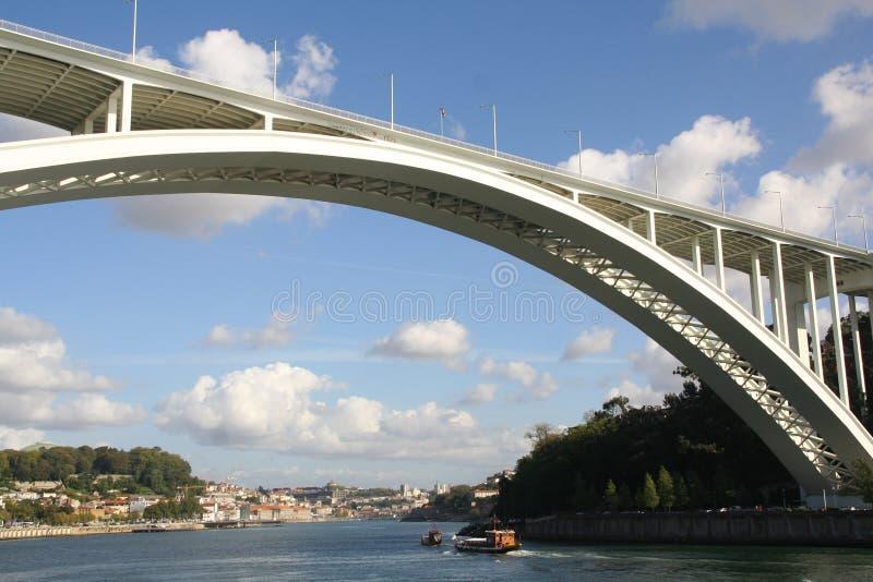 Opinião do Porto foto de stock