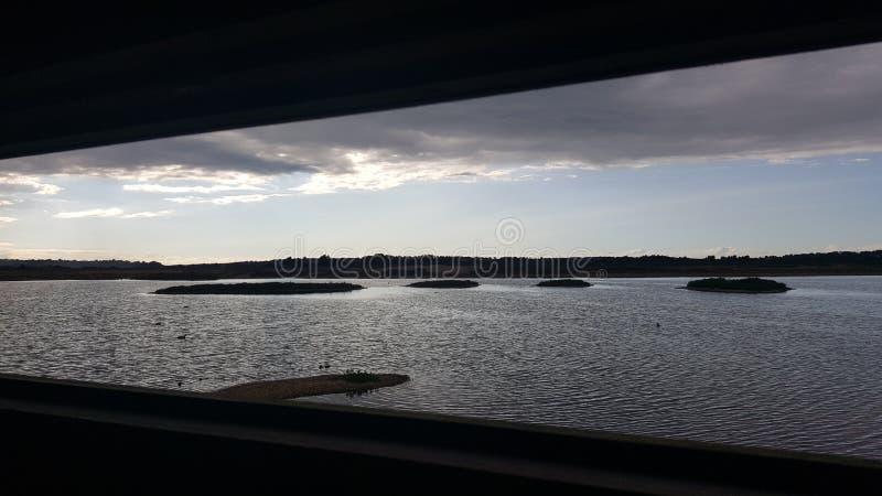 Opinião do porto de Rye imagens de stock