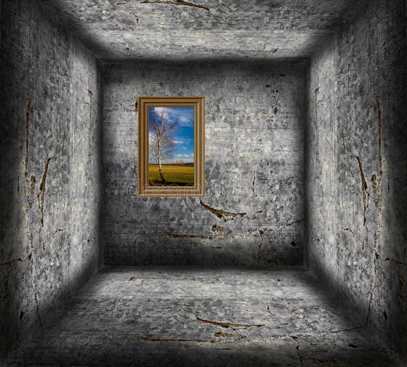 Opinião do prisioneiro ilustração royalty free