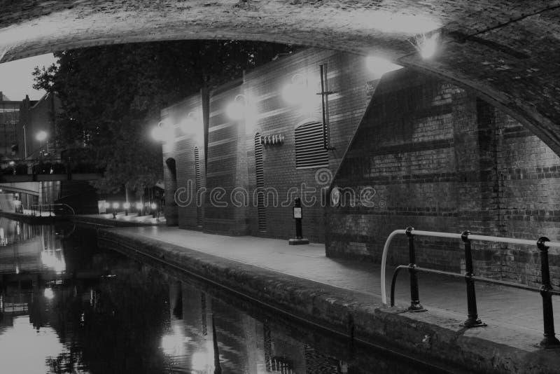 Opinião do rio do canal da caixa postal de Birmingham imagens de stock royalty free